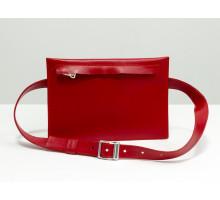 Наша новинка - кожаная сумка на пояс в красной коже. Сумка из кожи от производителя Джино Фиджини, С-03-02