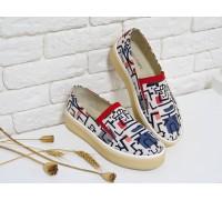 """Яркие туфли из натуральной итальянской матовой кожи с рисунком """"граффити"""" на шикарной мягкой противоскользящей подошве, Т-1663"""