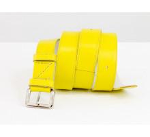 Наша новинка - яркий кожаный ремень желтого цвета  от производителя Джино Фиджини, Р-01-19