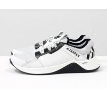 Белые мужские кроссовки, из натуральной кожи и облегченной дышащей спортивной ткани, Т-М7-01